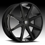 Dub Push S110 Gloss Black Custom Wheels Rims