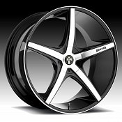Dub Rio 5 S113 Machined Black Custom Wheels Rims