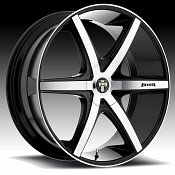 Dub Rio 6 S113 Machined Black Custom Wheels Rims
