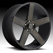 Dub Baller S116 Old School Machined Black DDT Custom Wheels Rims