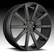 Dub Shot Calla S121 Machined Black DDT Custom Wheels Rims