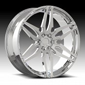 Dub Attack-6 S210 Chrome Custom Wheels Rims