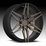Dub Attack-6 S211 Machined Black DDT Custom Wheels Rims