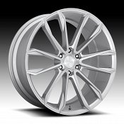 Dub Clout S248 Brushed Silver Custom Wheels Rims