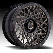 Fittipaldi Offroad Forged FTF04 Black Milled Bronze Tint Custom Wheels Rims