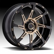 Fittipaldi Offroad Forged FTF06 Brushed Black Bronze Tint Custom Wheels Rims
