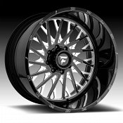 Fittipaldi Offroad Forged FTF08 Gloss Black Milled Custom Wheels Rims