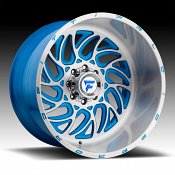 Fittipaldi Offroad Forged FTF09 Brushed Blue Accents Custom Wheels Rims