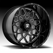 Fittipaldi Offroad Forged FTF11 Gloss Black Milled Custom Wheels Rims