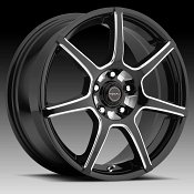 Focal 422BM F-007 Gloss Black Milled Custom Wheels Rims