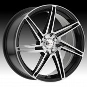 Focal 449U F-14 Machined Black Custom Wheels Rims