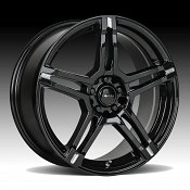Focal 451BM F-51 Gloss Black Milled Custom Wheels Rims