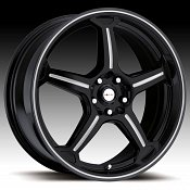 Focal F01 F-01 172 Gloss Black with Silver Accents Custom Rims W