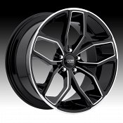 Foose F150 Outcast Gloss Black Milled Custom Wheels Rims
