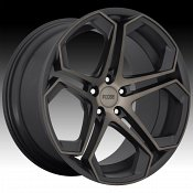 Foose F168 Impala Machined Black Dark Tint Custom Wheels Rims