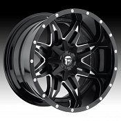 Fuel D267 Lethal 2-PC Matte Black w/ Milled Accents Custom Truck