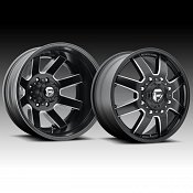 Fuel Maverick Dually D538 Matte Black Milled Truck Wheels Rims
