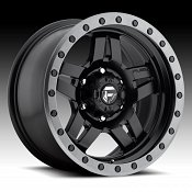 Fuel Anza D557 Matte Black w/ Anthracite Ring Custom Truck Wheel