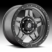 Fuel Anza D558 Matte Anthracite w/ Black Ring Custom Truck Wheel