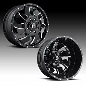 Fuel Cleaver Dually D574 Gloss Black Milled Custom Wheels Rims