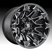 Fuel Battle Axe D578 Gloss Black Milled Custom Truck Wheels Rims