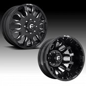 Fuel Blitz Dually D673 Gloss Black Milled Custom Wheels Rims