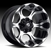 Fuel Dune D524 Machined Gloss Black Truck Wheels Rims