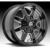 Fuel Frontier D535 Gloss Black Milled Truck Wheels Rims