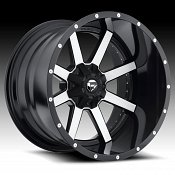 Fuel D261 Maverick 2-PC Matte Black Machined Truck Wheels Rims