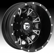 Fuel Throttle Dually D513 Matte Black Milled Truck Wheels Rims