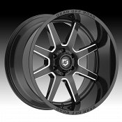 Gear Offroad 762BM Pivot Gloss Black Milled Custom Truck Wheels