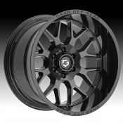 Gear Offroad 763B Raid Gloss Black Custom Truck Wheels