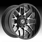 Gear Offroad 763MB Raid Machined Gloss Black Custom Truck Wheels