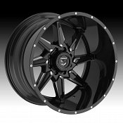 Gear Alloy 751BM Wrath Black Milled Custom Wheels Rims