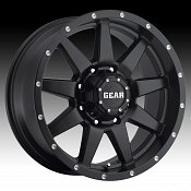 Gear Alloy 728B Overdrive Satin Black Custom Rims Wheels