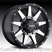 Gear Alloy 728MB Overdrive 728 Satin Black Machined Custom Rims