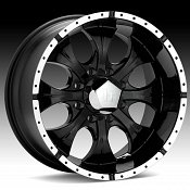 Helo HE791 791 Maxx 8-Lug Black w/ Machined Accents Custom Rims