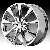 Helo HE827 827 Chrome Custom Rims Wheels