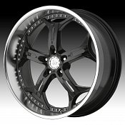 Helo HE834 834 Gloss Black w/ Machined Lip Custom Rims Wheels