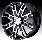 Helo HE835 835 Gloss Black w/ Machined Face Custom Rims Wheels
