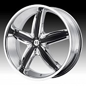 Helo HE844 844 Chrome w/ Black Inserts Custom Rims Wheels