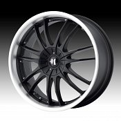 Helo HE845 845 Gloss Black w/ Machined Lip Custom Rims Wheels