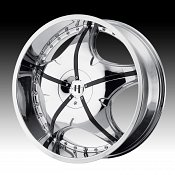Helo HE846 846 Chrome w/ Black Inserts Custom Rims Wheels