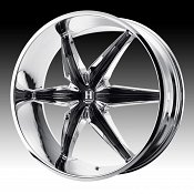 Helo HE866 866 Chrome w/ Black Inserts Custom Rims Wheels