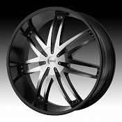 Helo HE868 868 Gloss Black w/ Machined Face Custom Rims Wheels