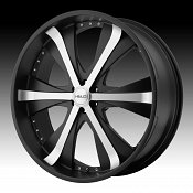 Helo HE869 869 Satin Black w/ Machined Face Custom Rims Wheels