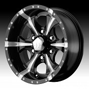 Helo HE791 Maxx Gloss Black w/ Milled Accents Custom Wheels Rims