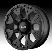 Helo HE878 Satin Black Custom Rims Wheels