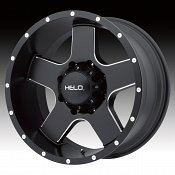 Helo HE886 Satin Black with Milled Accents Custom Wheels Rims