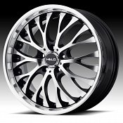 Helo HE890 Gloss Black Machined Custom Wheels Rims